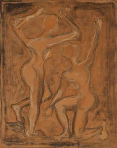 『裸女相対』の画像