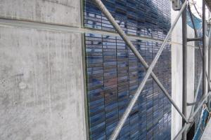『外壁ボーダータイル貼り』の画像