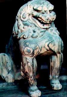 木造狛犬(二所神社)
