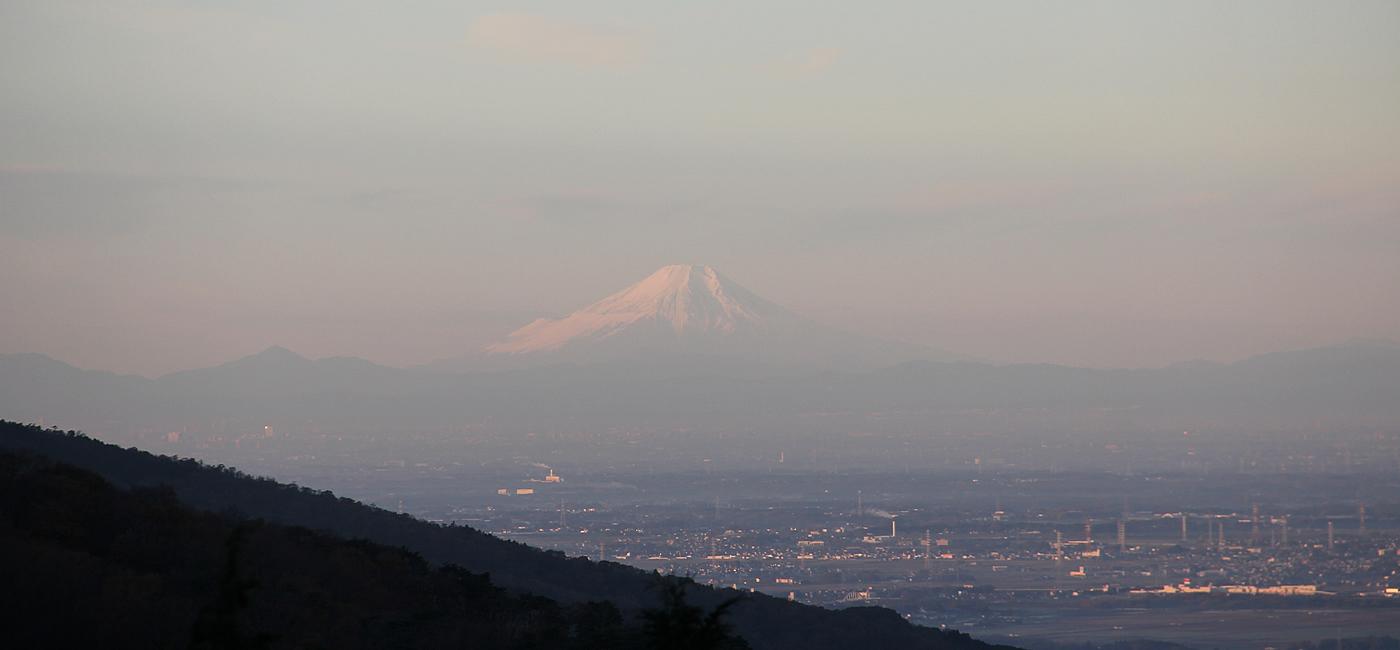 キノコ山から見る富士山